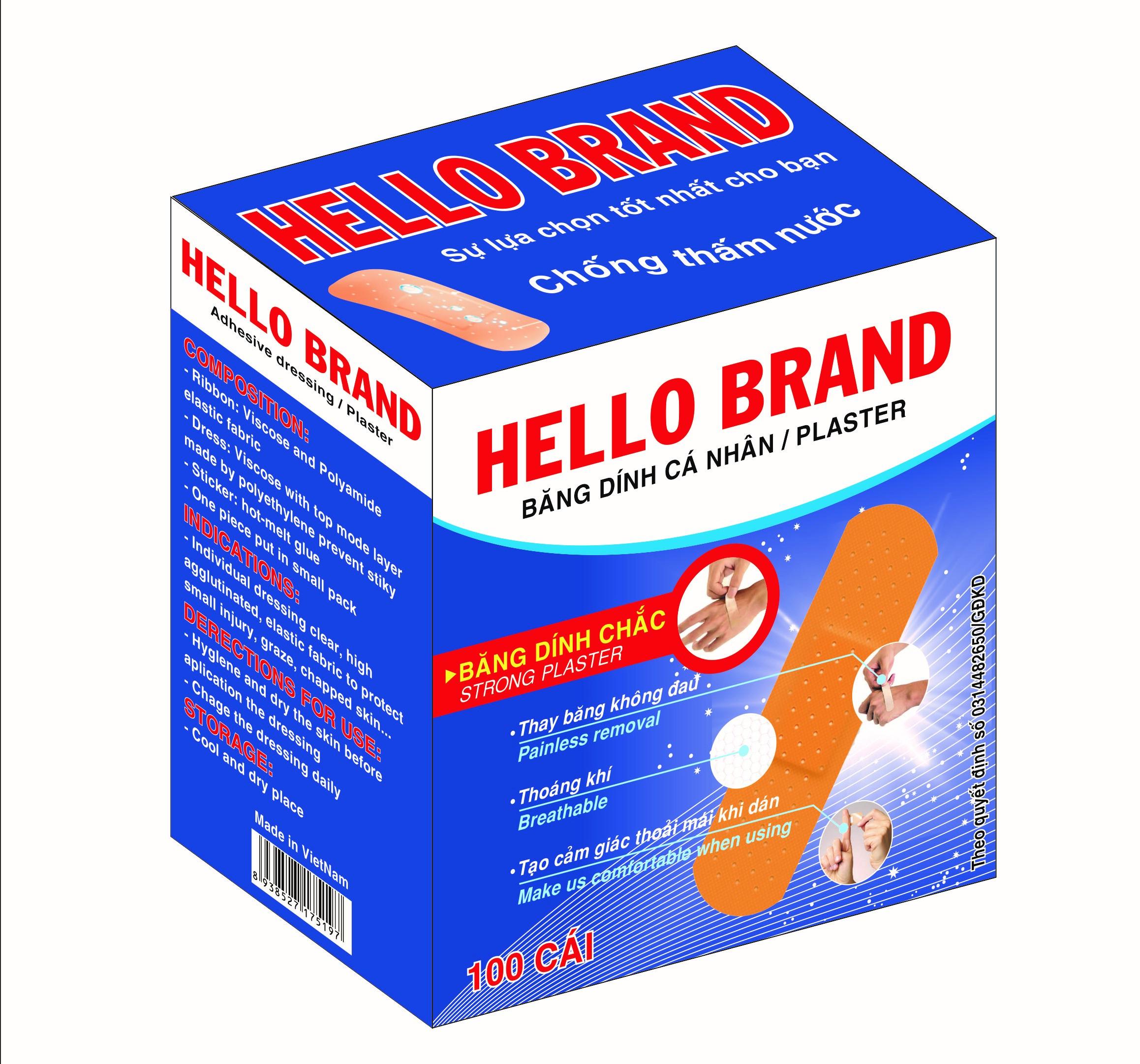 Băng Cá Nhân Hello Brand 100 Miếng