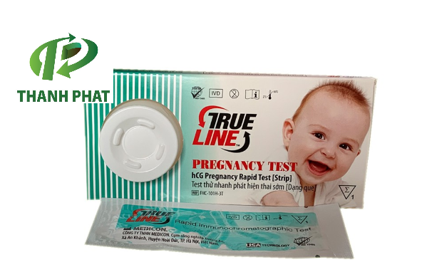 Que thử thai HCG TRUELINE strip hộp 1 test