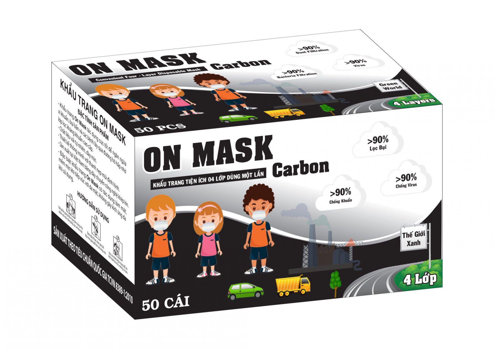 Khẩu Trang On Mask 4 Lớp CARBON