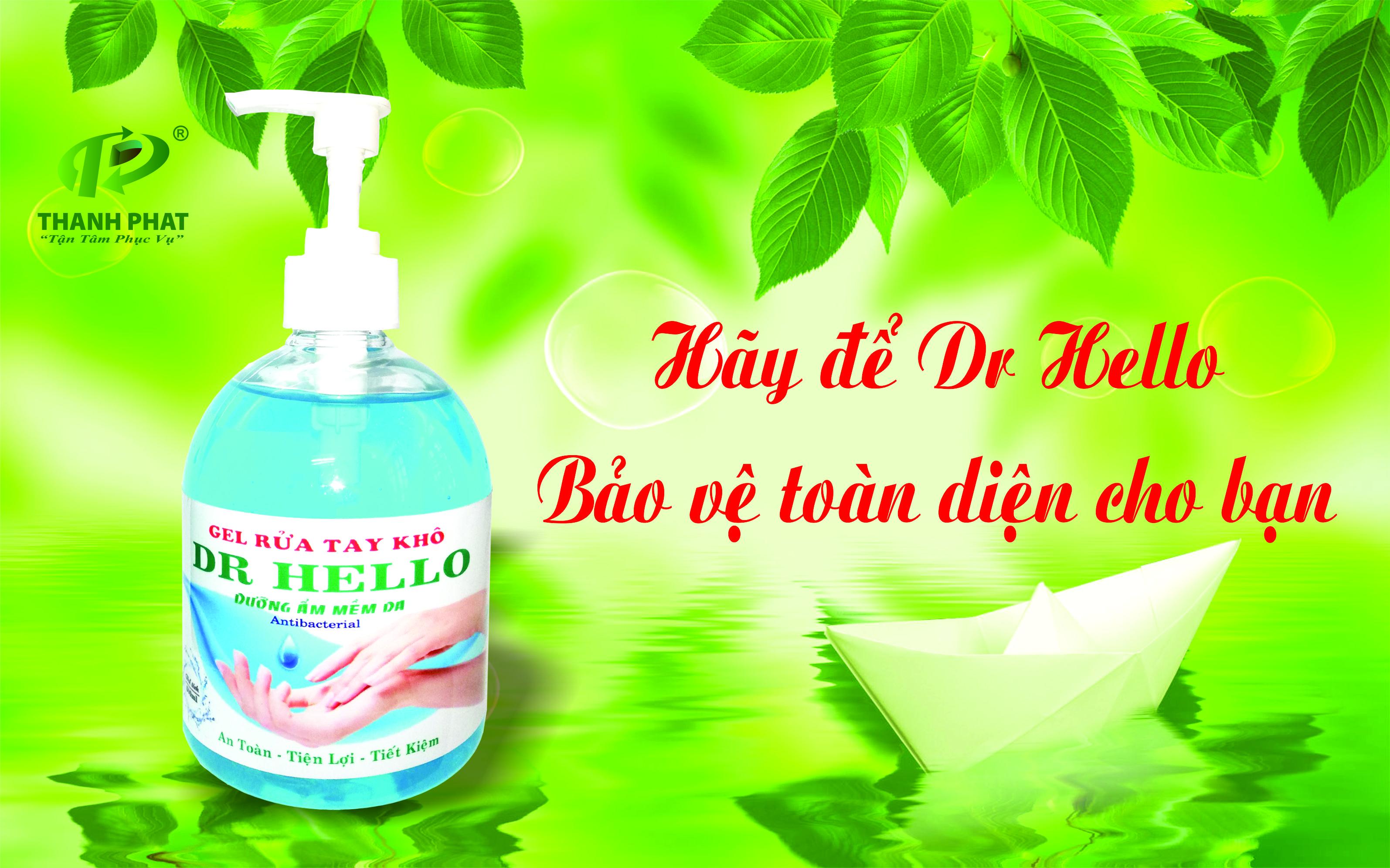 Gel  Rửa Tay Khô DR HELLO - 500ml