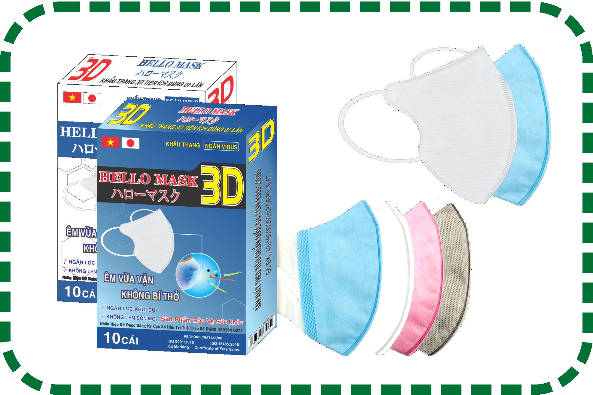Khẩu Trang 3D Hello Mask - Japan