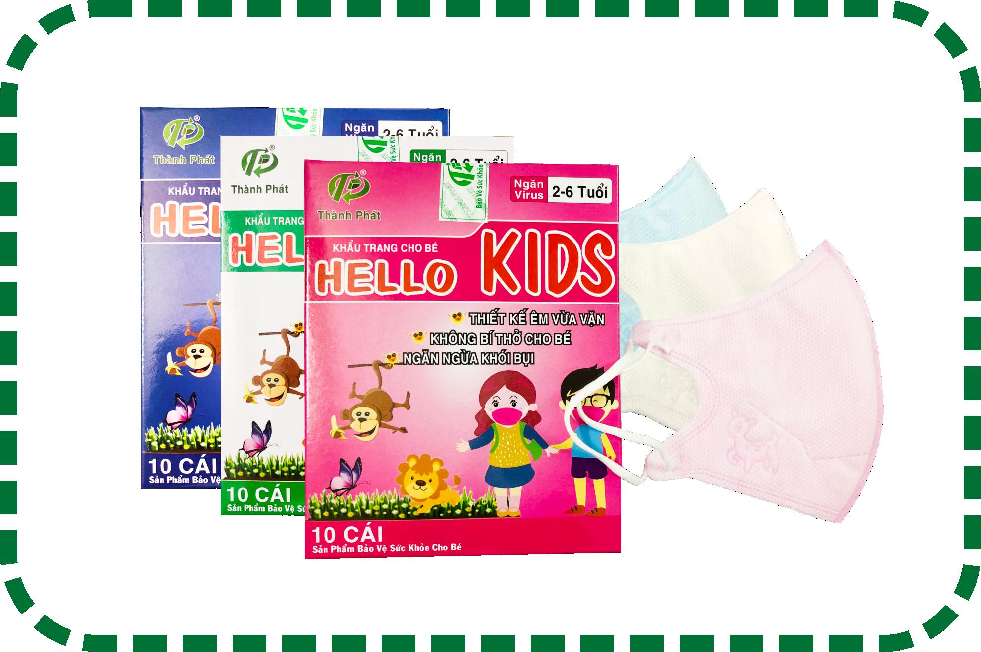 Khẩu Trang Em Bé Hello KIDS - 3D